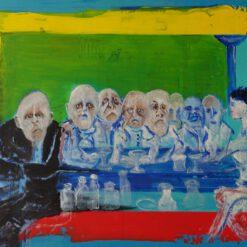 Outsiderart galerie Vialumina Dordrecht Mannen aan de bar 29-2020