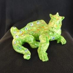 Wim Rutte keramiek de groene draak Vialumina Outsider art galerie Dordrecht