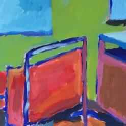 Donne Dijkhorst, interieur, acryl op paneel, 40x30